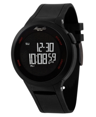 Kenneth Cole New York Watch, Men's Touchscreen Black Silicone Strap KC1640
