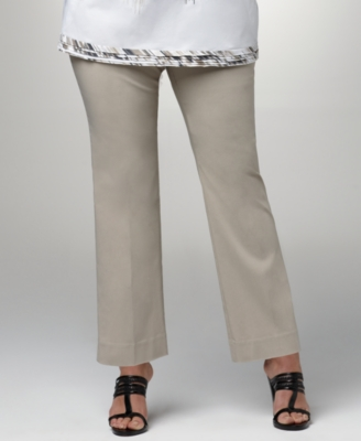 Alfani Plus Size Pants, Slim Leg Ankle
