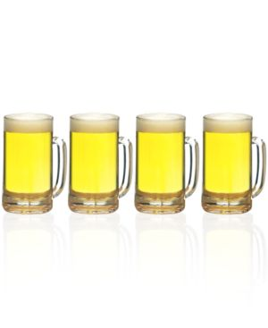 Closeout! Mikasa Glassware, Set of 4 BrewMaster's Beer Mugs