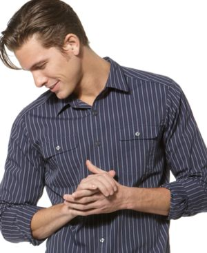 Kenneth Cole New York Shirt, Wrinkle Striped