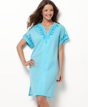 Charter Club Robe, Short Zip Up Caftan