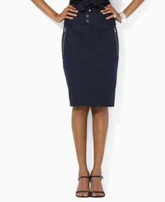 Lauren by Ralph Lauren Skirt, Sandra Cotton Pencil
