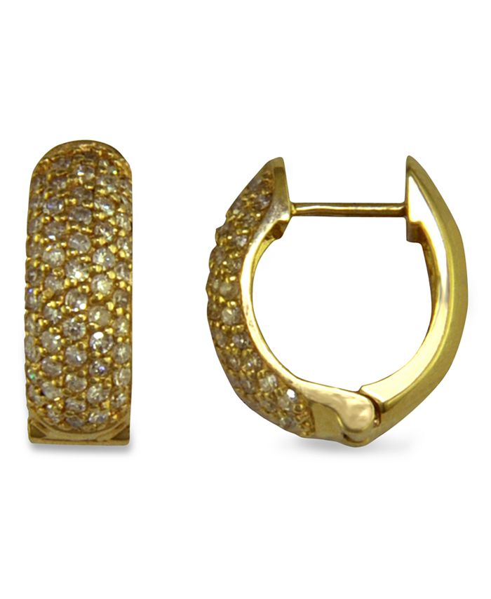 EFFY Collection - Pave Diamond Earrings in 14k Gold (1/2 ct. t.w.)