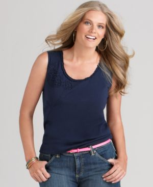 Tommy Hilfiger Plus Size Top, Taro Scoopneck Tank