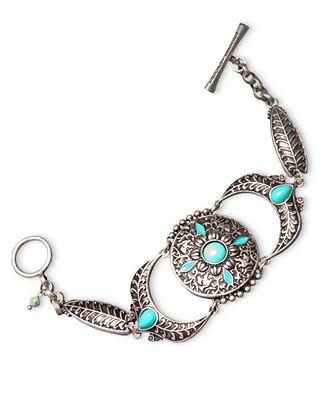 Lucky brand bracelet silver tone toggle jewelry for Macy s lucky brand jewelry