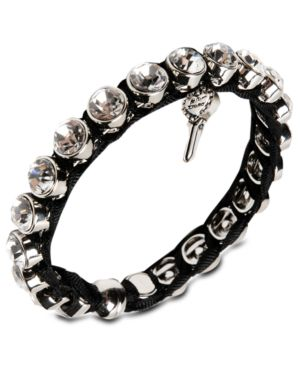 Betsey Johnson Iconic Bracelet, Crystal Accent