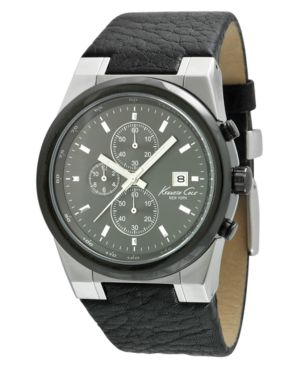 Kenneth Cole New York Watch, Men's Chronograph Leather Strap KC1654