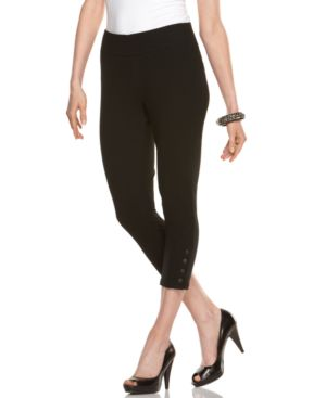 Alfani Leggings, Capri with Snap Cuffs