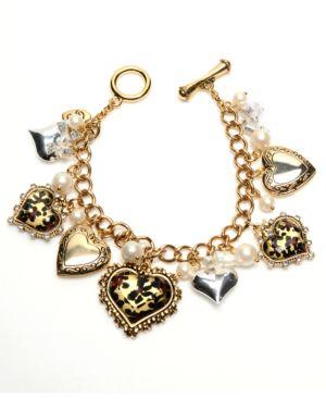 Betsey Johnson Bracelet, Heart Charm