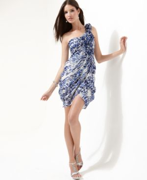 BCBGMAXAZRIA Dress, One Shoulder Tulip Hem - BCBG Max Azria