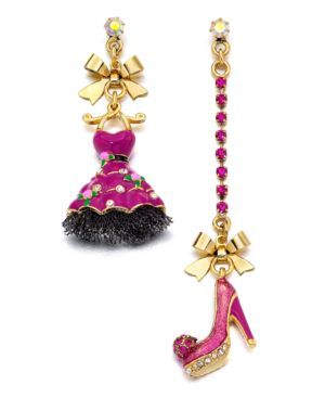 Betsey Johnson Earrings, Varsity Crush Asymetrical Dress Shoe