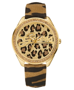 GUESS Watch, Women's 25th Anniversary Signature Leather Strap 45mm U85089L1