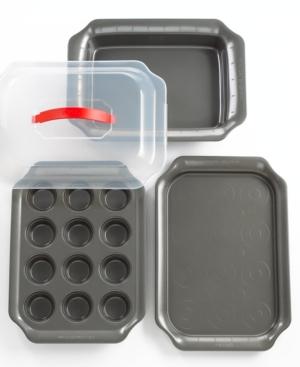 Pyrex Solutions Bakeware, Nonstick 4 Piece Set