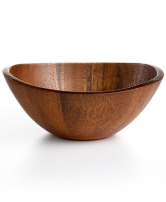 The Cellar Acacia Wood Curve Individual Bowl
