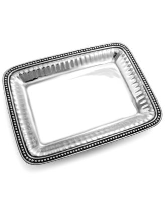 Wilton Armetale Serveware, Flutes and Pearls Rectagular Tray
