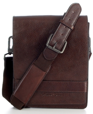 Kenneth Cole New York Small Leather Messenger Bag, Durango