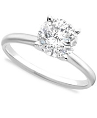 certified diamond engagement ring 2 ct tw in 14k white gold - Macy Wedding Rings