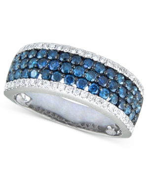 Bella Bleu by Effy Collection 14k White Gold Ring, White and Caribbean Blue Diamond (1-1/4 ct. t.w.)