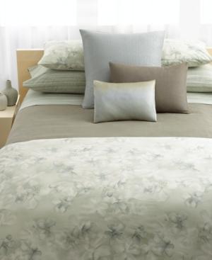 Calvin Klein Home Bedding, Mercury Flower Queen Fitted Sheet Bedding