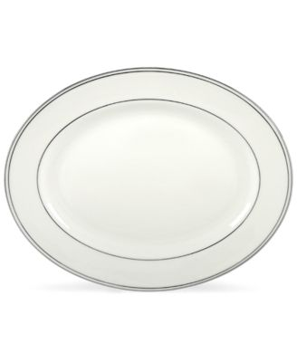 "Lenox 13"" Federal Platinum Oval Platter"