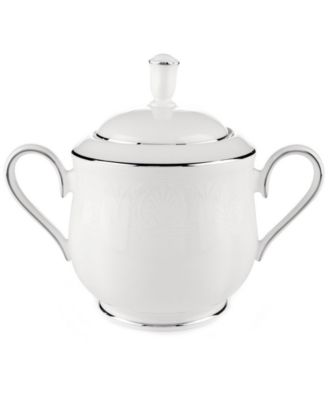Lenox Hannah Platinum Sugar Bowl with Lid