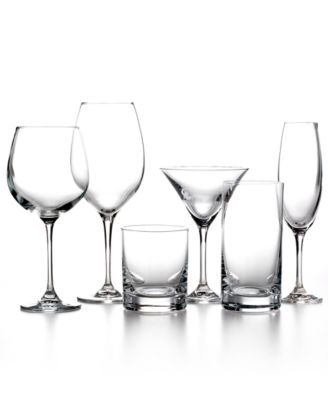 Martha Stewart Collection Glassware, Set of 4 Waterman White Wine Glasses