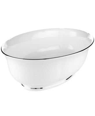 Lenox Hannah Platinum Medium Open Vegetable Dish