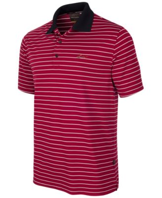 Image of Greg Norman for Tasso Elba Men's 5 Iron Performance Striped Golf Polo
