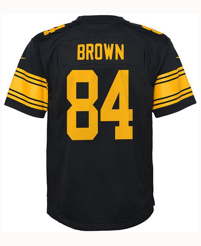 Nike Antonio Brown Pittsburgh Steelers Color Rush Jersey, Big Boys ...