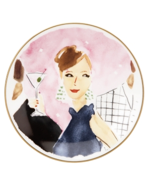 kate spade new york Serveware, Set of 4 Illustrated Cocktails Anyone Tidbit Plates