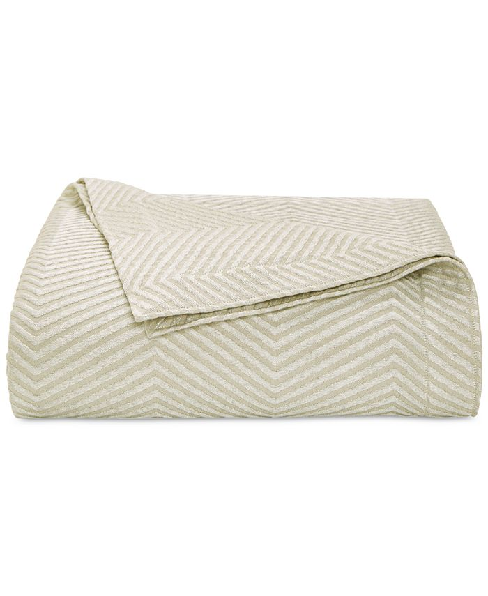 Hotel Collection - Woven Accent Quilted Full/Queen Coverlet