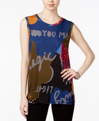 RACHEL Rachel Roy Graphic Tank Top, Only at Macys