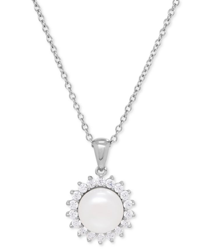 Macy's Cultured Freshwater Pearl (8mm) and Swarovski Cubic Zirconia Jewelry Set in Sterling Silver & Reviews - Jewelry & Watches - Macy's