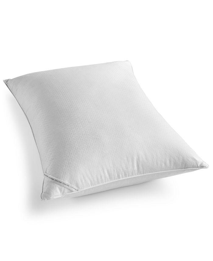 Calvin Klein - Diamond-Grid Feather/Down Wrap Standard/Queen Firm Support Pillow