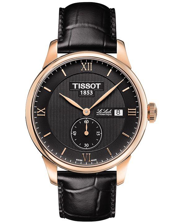Tissot Men's Swiss Automatic Chronograph T-Classic Le Locle Black Leather Strap Watch 39mm T0064283605801