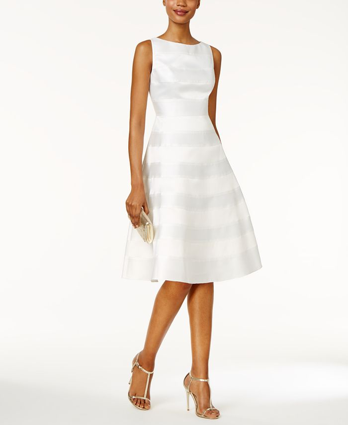 Adrianna Papell - Striped Fit & Flare Dress
