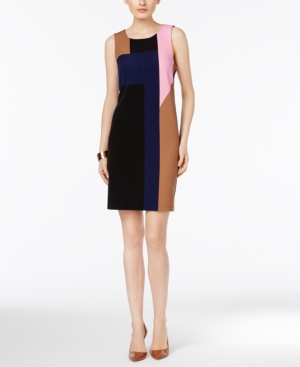 1960s Mod Dresses Inc International Concepts Colorblocked Sheath Dress Only at Macys $89.50 AT vintagedancer.com
