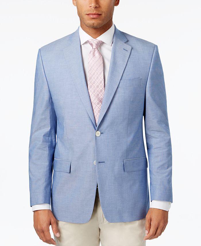 Lauren Ralph Lauren - Men's Classic-Fit Light Blue Chambray UltraFlex Sport Coat