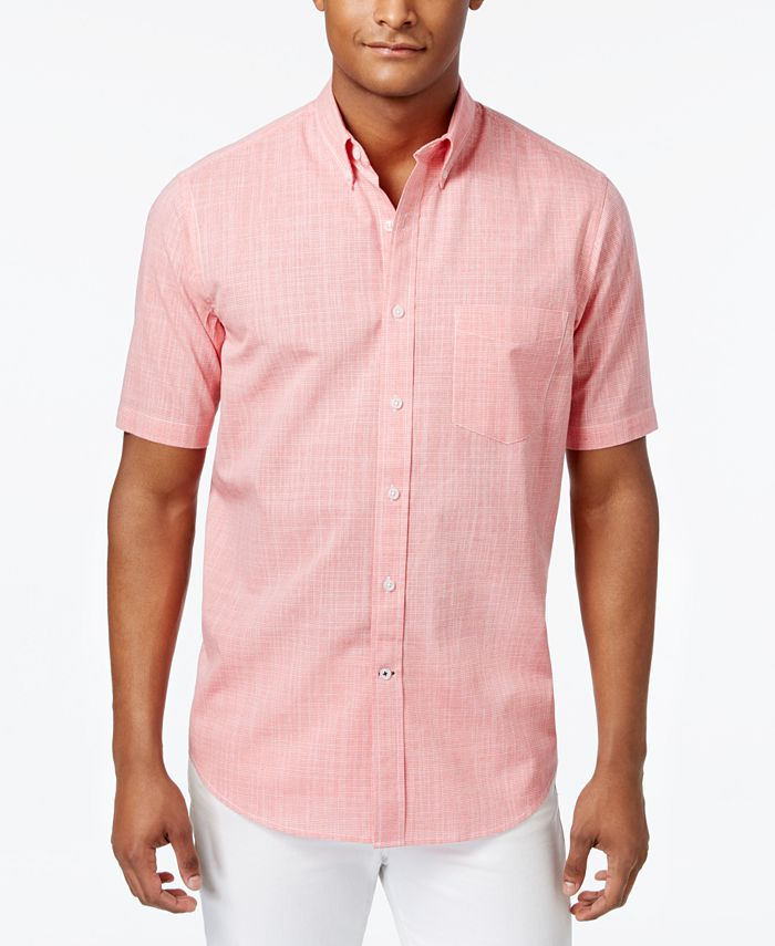 Club Room Men's Short-Sleeve Shirt with Pocket, Created for Macy's ...
