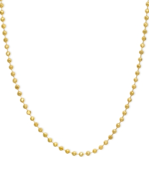 "14k Gold Necklace, 16-20"" Bead Chain"