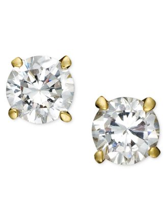 18k Gold over Sterling Silver Earrings, Cubic Zirconia (4 ct. t.w.)