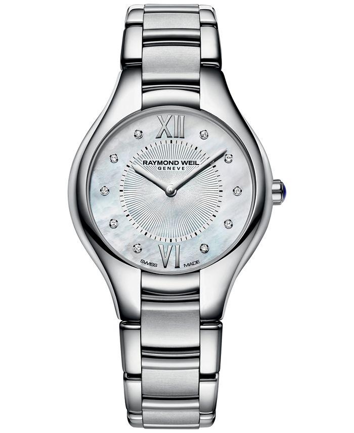 Raymond Weil - Watch, Women's Swiss Noemia Diamond Accent Stainless Steel Bracelet 32mm 5132-ST-00985