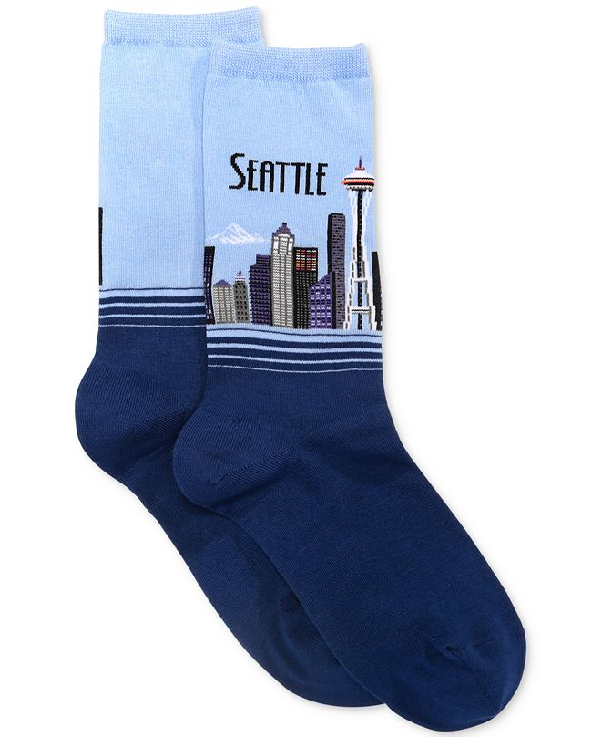 Hot Sox Women's Seattle Fashion Crew Socks