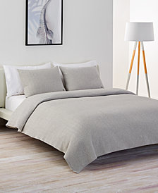 CLOSEOUT! Lacoste Home Cotton Chevron Quilted Twin Coverlet
