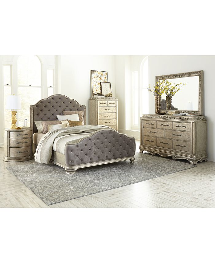 Furniture Zarina Bedroom 3 Pc Set Queen Bed Chest Nightstand Reviews Macy S