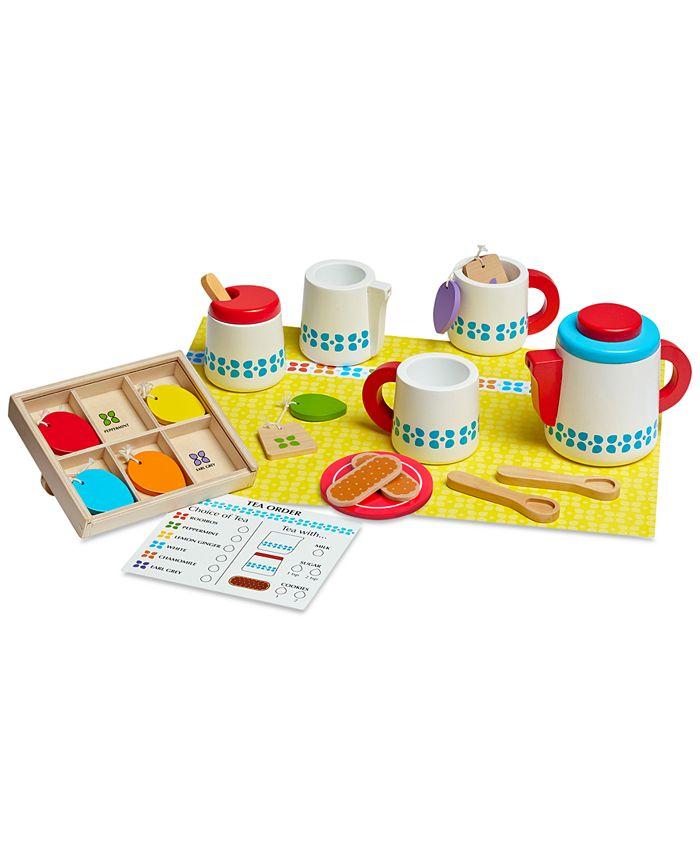 Melissa and Doug - Wooden Steep & Serve Tea Set