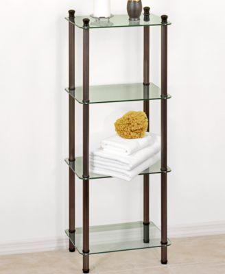 Creative Bath Organization, L'Etagere 4 Shelf Storage Tower