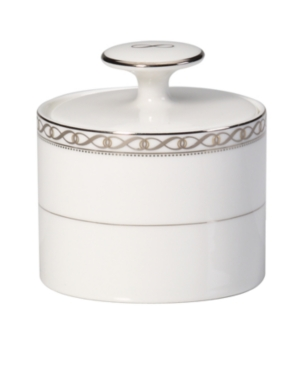 Mikasa Dinnerware, Infinity Band Sugar Bowl with Lid