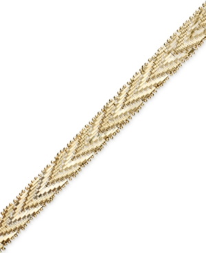 14k Gold and Sterling Silver Bonded Bracelet, Chevron Riccio