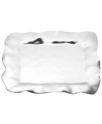 Lenox Serveware, Organics Ruffle Rectangular Tray